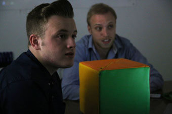 Arran on work experience with Apollo Creative