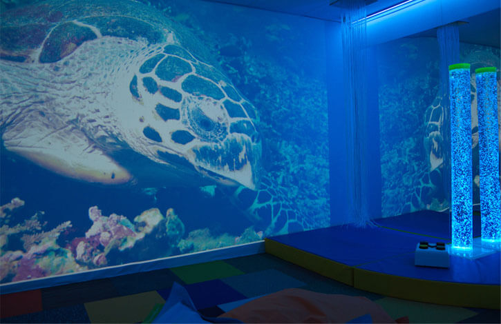 RAF Leeming Project - sensory room projection