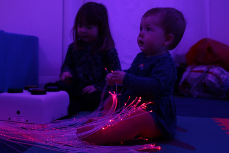 Playing with fibre optic strands