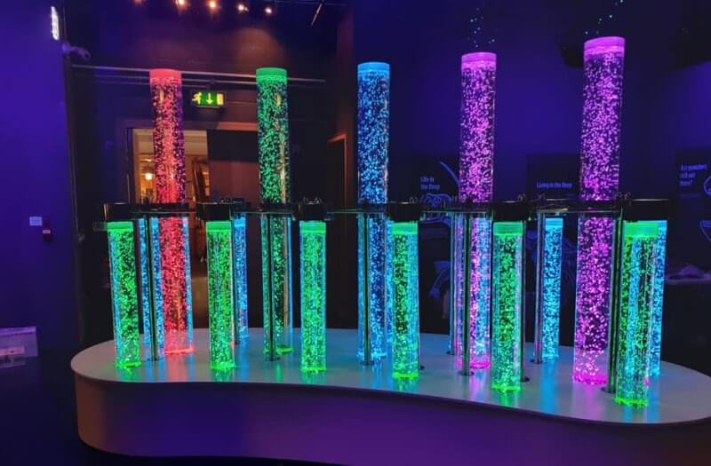 National Maritime Museum Cornwall - Bubble Tube exhibition